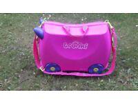 Pink Trunki children's suitcase