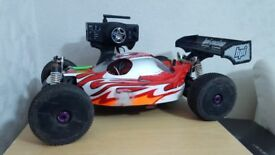 brushless Hpi trophy buggy flux rtr converted