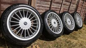 R17 5x120 Alpina Replica BK Racing alloy wheels with matching Avon tyres. 7.5jj (E36 e39 e46)