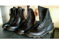 2 pairs of British army boots