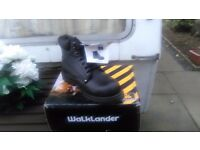 Walklander black seven eyelet lacing safety work boots sizes 7,8,9 and 11 new in box £23 collect