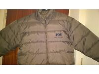 helly hansen down filled jacket size xl reversible