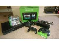 Xbox One 500gb kinect 2 controllers 7 games