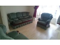 Free *Three seater plus two arm chairs