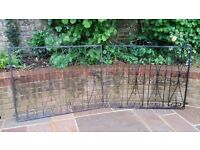 Wrought iron driveway gates (and matching gate if needed)