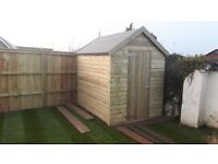 8ft x 6ft apex garden shed tanalised