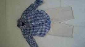 Baby boy 9-12m Ralph Lauren shirt and trousers