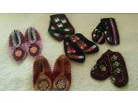Unique hand-knit slippers
