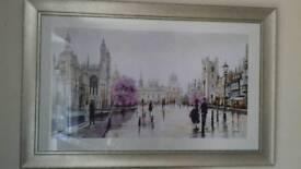 Cambridge walking in the rain picture