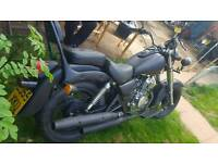 125cc learner legal rat chopper motorcycle with MOT **