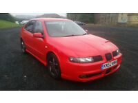 SEAT LEON CUPRA 1.8 20v TURBO 6 SPEED MANUAL, 11 MONTHS MOT NEW BRAKES !