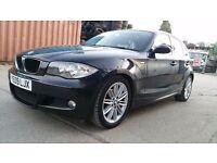 2009   BMW 118D 2.0 M SPORT   REAR SENSORS  HALF LEATHER   CARBON FIBRE   YR MOT   FULL HIST