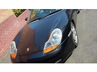 Porsche Boxster S 3.2L 2002 – Black with black interior – FPSH and includes Hard Top