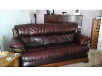 2+ 3 seater leather sofa