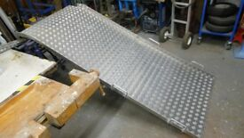 aluminium folding ramp 90 ins long x 36 ins wide when fully open. can deliver