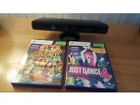 Xbox 360 Kinect Sensor & 2 games
