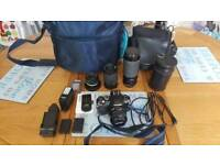 Olympus E400 digital camera + extras