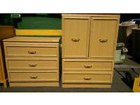 Bedroom tallboy and drawers
