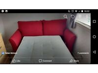 REID RED SOFA BED COUCH LIKE NEW!!