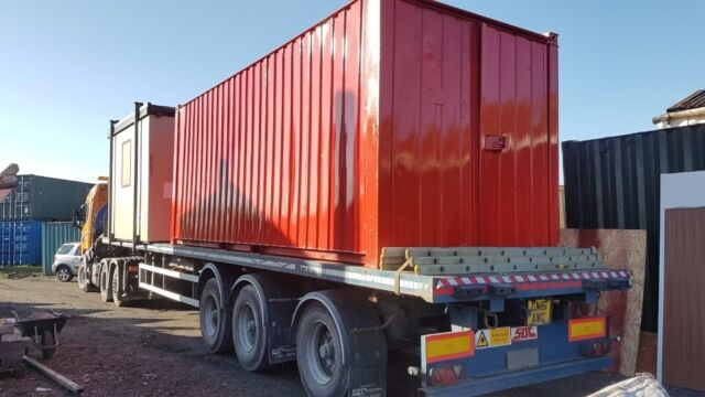 20ft shipping/storage container refurbished and painted, wind and water  tight with secure doors | in Wrexham | Gumtree