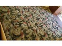 Original 1970's Retro Vintage Wool Carpet.