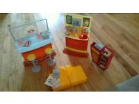 Mattel 2003. Barbie My Scene Daily Dish Cafe Playset. Coffee Stand & Bar w/ Pastry Display