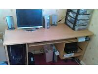 Large computer desk. Only £10 if collected today!!