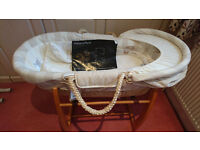 Mamas and Papas Moses Basket with stand, used once, as new with tags