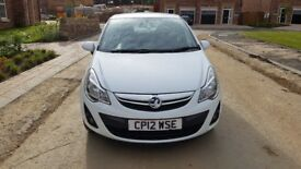 Vauxhall Corsa (2012), excellent condition, £30 road tax