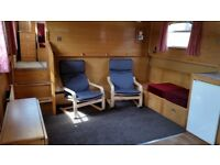 FULLY FURNISHED WIDEBEAM HOUSEBOAT. 2 BEDROOMS 2 BATHROOMS. 5 MINS FROM A5/M42