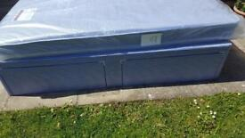 Single bed with waterproof mattress brand new wrapping