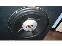 """15"""" JBL Car subwoofer 1200watts 300rms ported bass box"""
