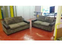 DFS FABRIC 2 X 2 SEATER SOFAS ** £99 FREE DELIVERY **