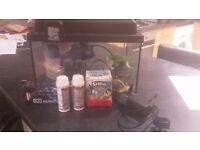 Small fish tank and equipment - just add water and fish