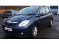 2003 03 TOYOTA COROLLA VERSO 2.0 T3 D4D DIESEL 1 LADY OWNER SINCE NEW(PART EX WELCOME)