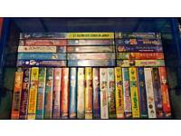 Collection of children's vhs tapes