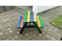 Children's wooden bench