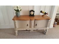 Stunning Vintage Oak Sideboard finished in Annie Sloan chalk paint (shabby chic)