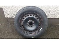 Ford steel wheel and tyre 5x108 16""