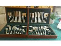 12 place stainless steel cutlery set