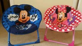 moon chairs....Minnie and Mickey