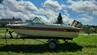 16' Bowrider w. 70 hp Johnson & trailer - on Hay Bay