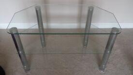 80cm glass TV stand