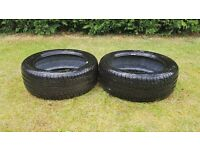 "2X 17"" Michelin Radial X 225/50r Tyres"