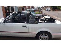 1989 Ford Escort XR3i Cabriolet Convertible - newly re-sprayed! Full MOT!