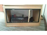 2ft viv with light and heat mat ideal for gecko or small snake