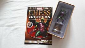 Marvel Chess Set magazine and piece No.4 (extra). Annihilus (black bishop).