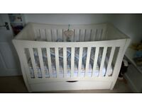 Mothercare Bordeaux Cot Bed with mattress £75 plus bedding/pillows £85