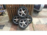 FOR SALE 4 SETS OF ALLOY WHEELS AND TYRES