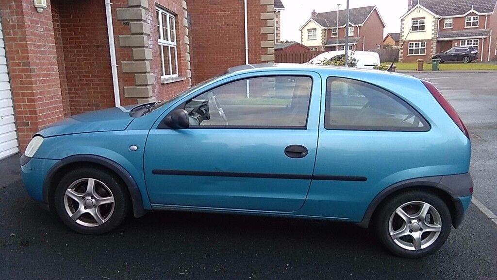 Blue Vauxhall Corsa Club 2001 Petrol